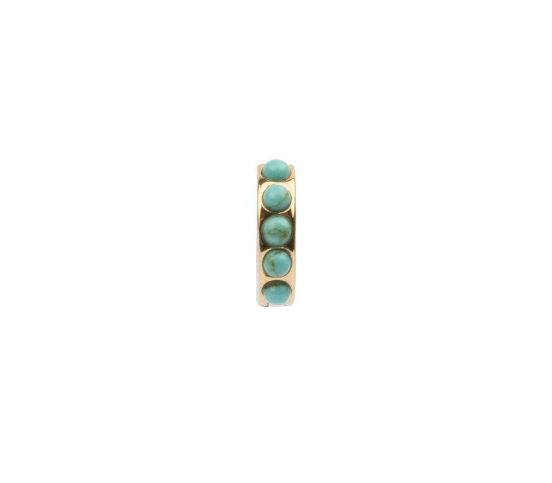 Creole thick Turquoise 18K gold