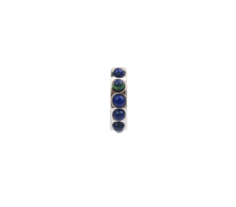 Bliss Silverplated Creool breed Blauw