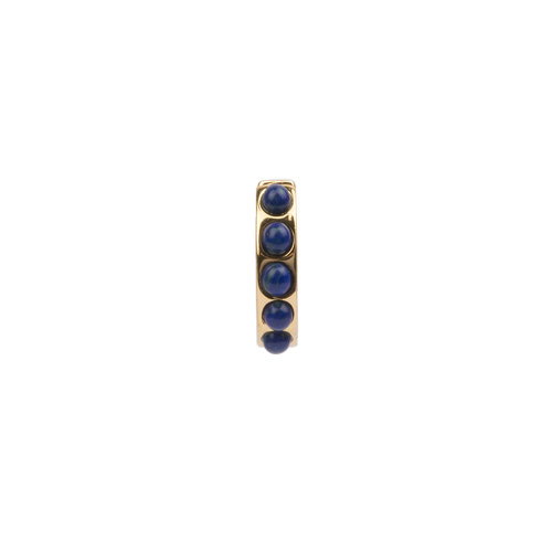 Bliss Goldplated Creole thick Blue