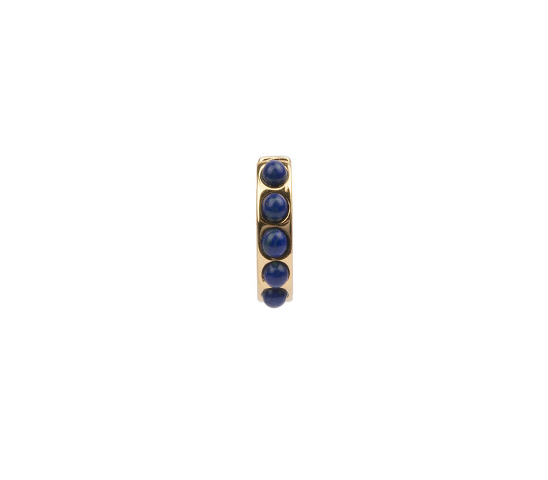 Bliss Goldplated Creool breed Blauw