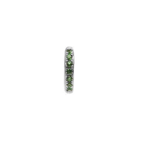 Bliss Silverplated Earring Creole green