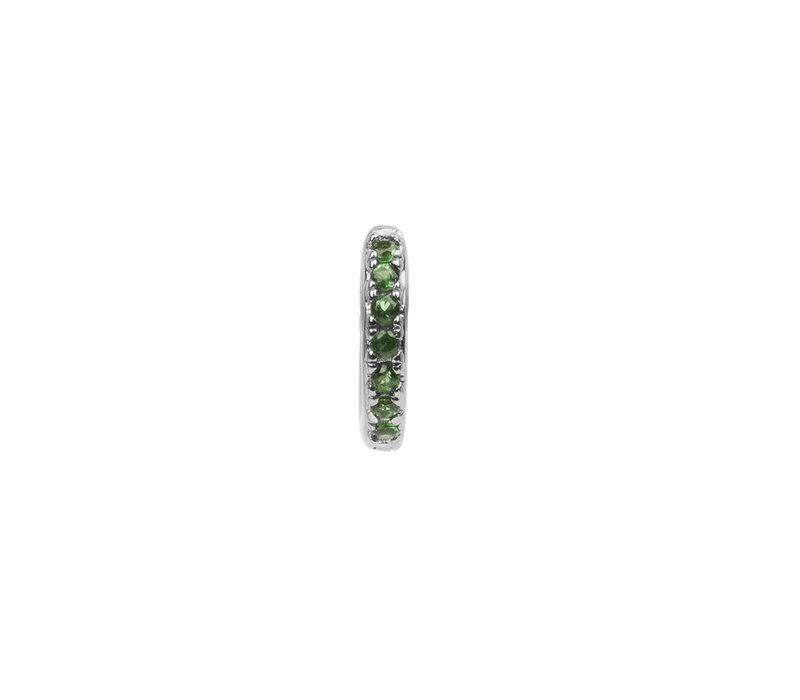 Earring Creole Emerald green silver