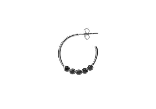 All the Luck in the World Bliss Silverplated Earring Creole big Black