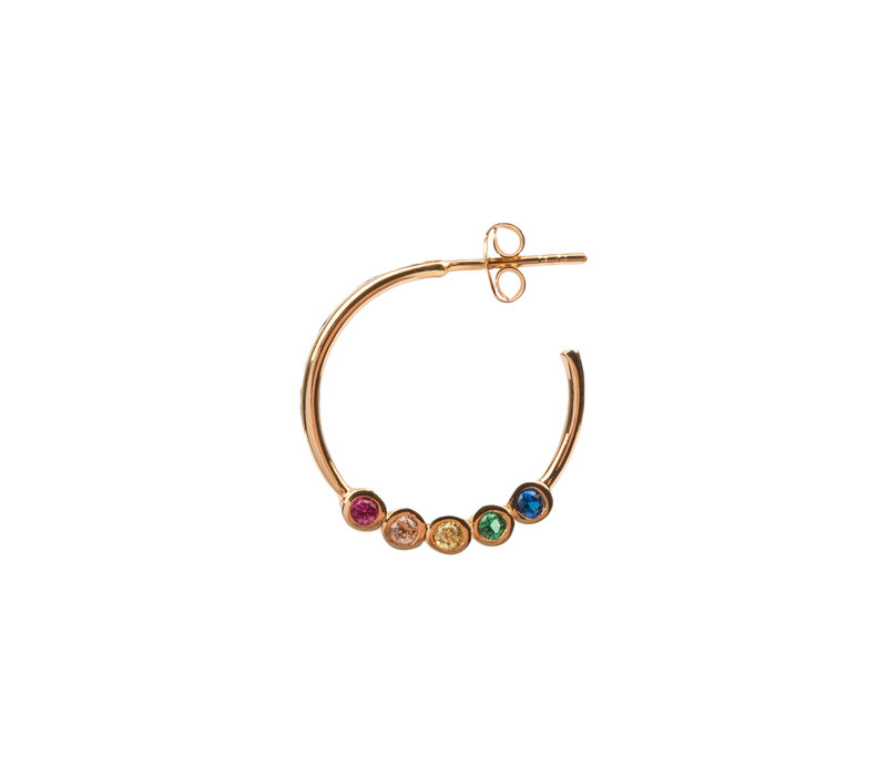 Bliss Goldplated Earring Creole big Multi