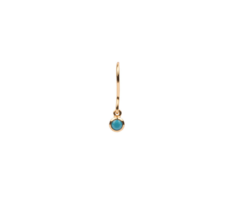 Bliss Goldplated Earring Hook Turquoise