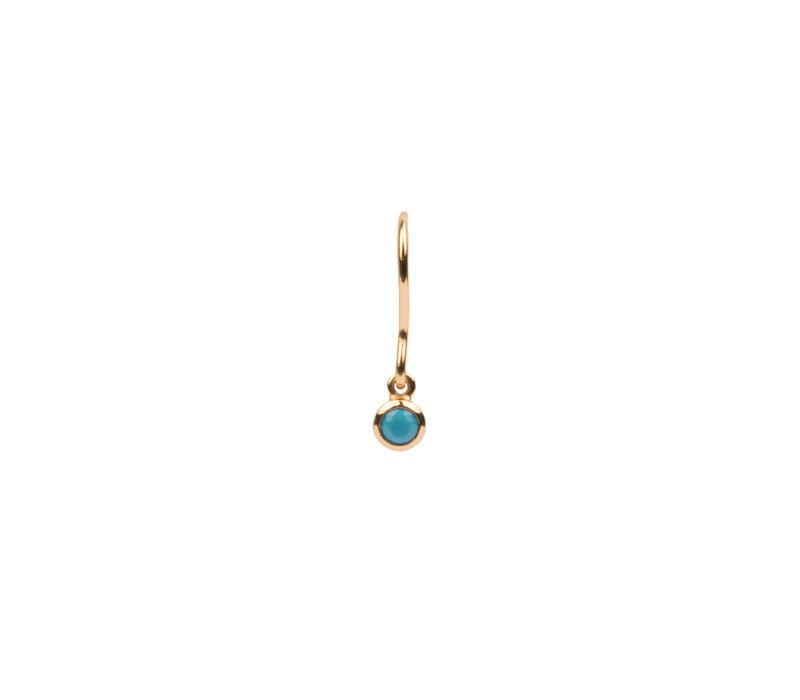 Oorbel Hook Turquoise verguld