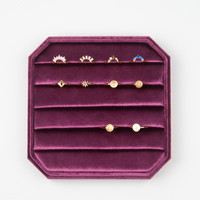 Velvet ring display box Pink