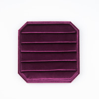 Fluweel ring display box Roze