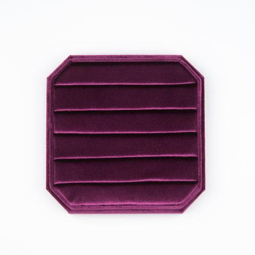 Velvet ring display box Pink
