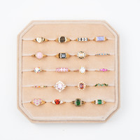 Velvet ring display box Beige