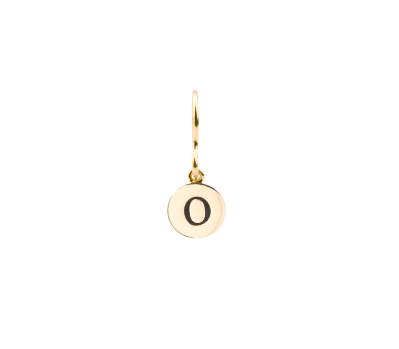 Earring letter O plated