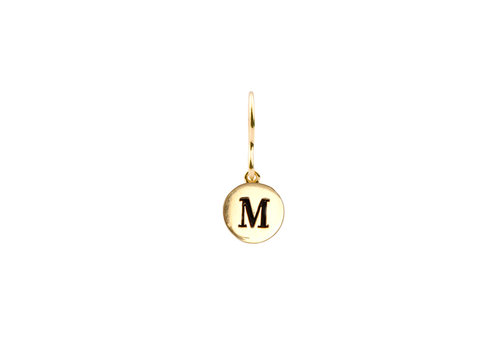 All the Luck in the World Earring letter M gold