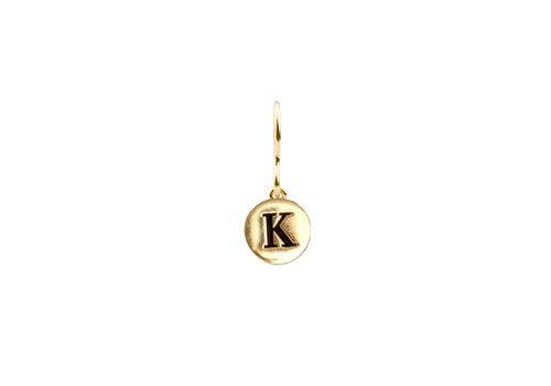 All the Luck in the World Earring letter K 18K gold