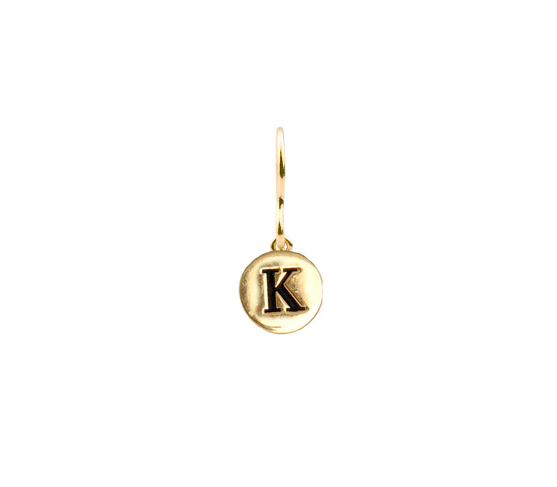 Character Goldplated Earring letter K