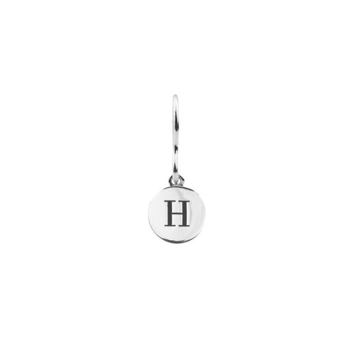 Oorbel letter H zilver