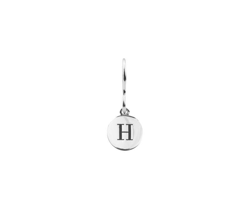 Earring letter H plated