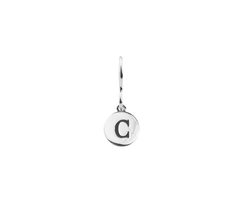 Oorbel letter C zilver