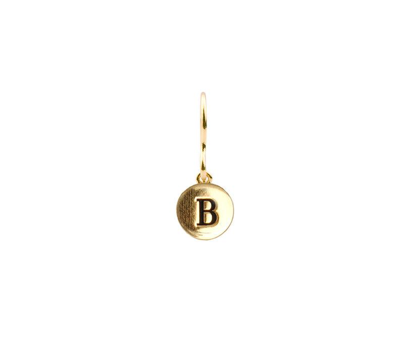 Earring letter B 18K gold