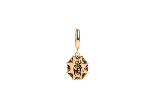 All the Luck in the World Charm Goldplated Earring Beatle Starry Circle