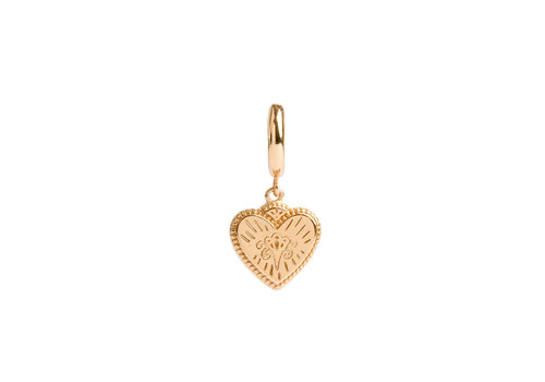 All the Luck in the World Charm Goldplated Earring Burst Heart