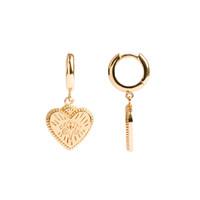 Charm Goldplated Earring Burst Heart