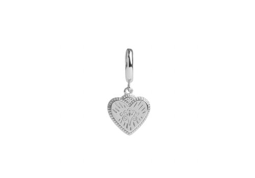 All the Luck in the World Earring Burst Heart silver