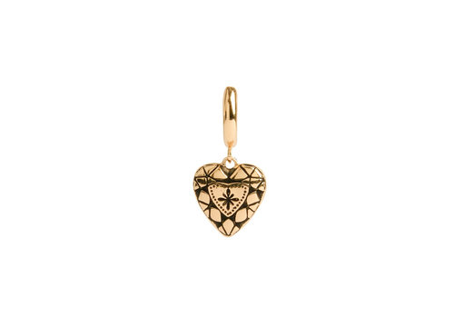 All the Luck in the World Oorbel Diamant Hart 18K goud