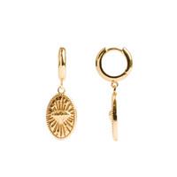 Charm Goldplated Earring Diamond Oval