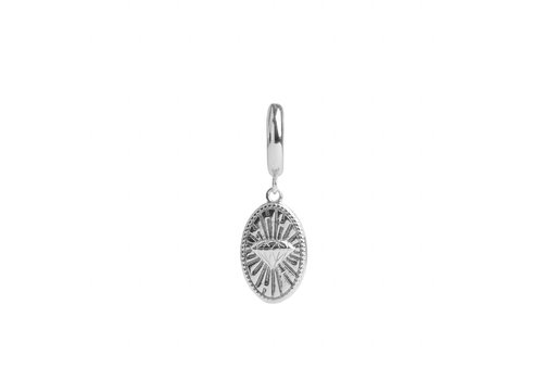 All the Luck in the World Earring Diamond Oval silver