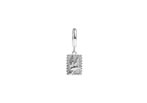 All the Luck in the World Earring Hummingbird Rectangle silver