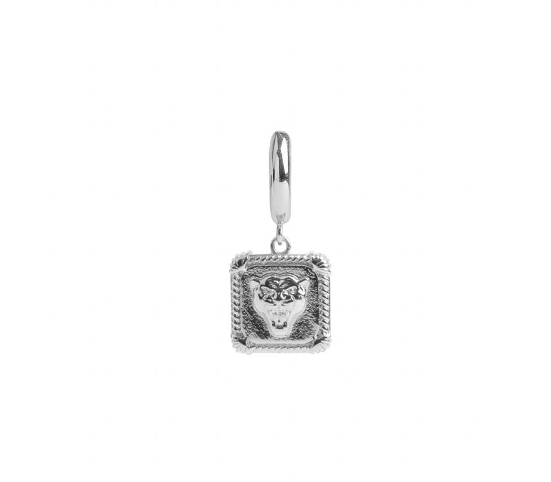 Earring Panter Square silver