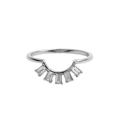 Ring Kroon Transparant zilver