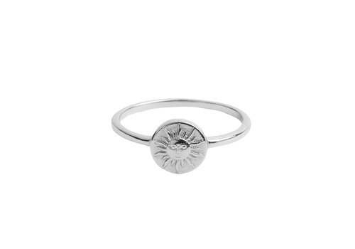 All the Luck in the World Ring Coin Sun silver