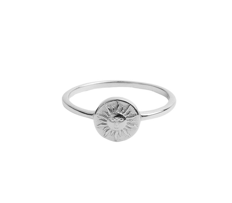 Magique Silverplated Ring Coin Sun