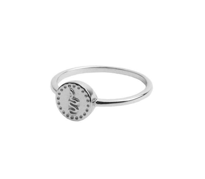 Ring Munt Slang zilver