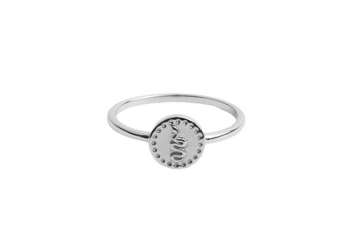 All the Luck in the World Ring Coin Snake silver