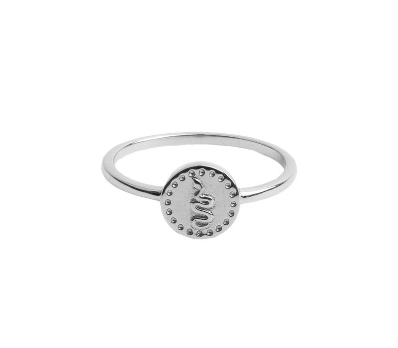 Ring Coin Snake silver