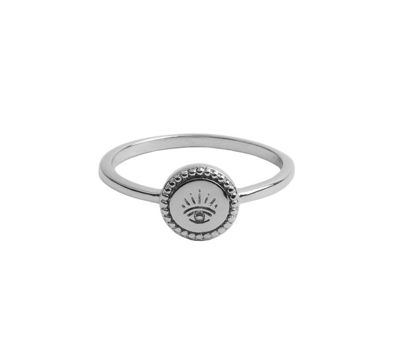 Magique Silverplated Ring Coin Eye