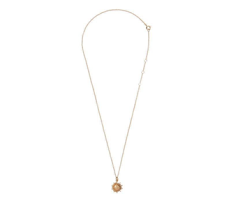 Necklace Sun Circle 18K gold