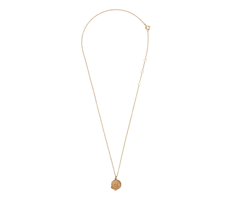 Necklace Scorpio Circle 18K gold