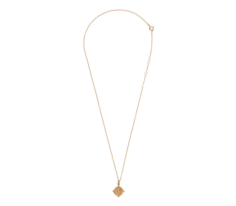 Necklace Rose Circle plated