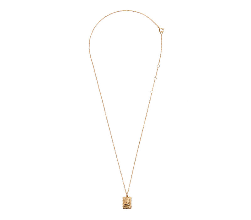 Necklace Hummingbird Rectangle 18K gold
