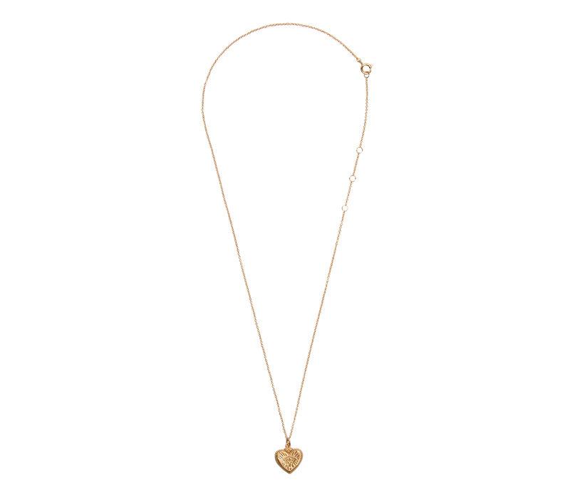 Necklace Burst Heart 18K gold