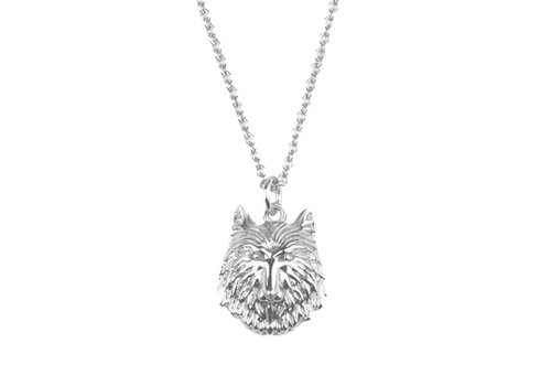 All the Luck in the World Souvenir Silverplated Necklace Wolf
