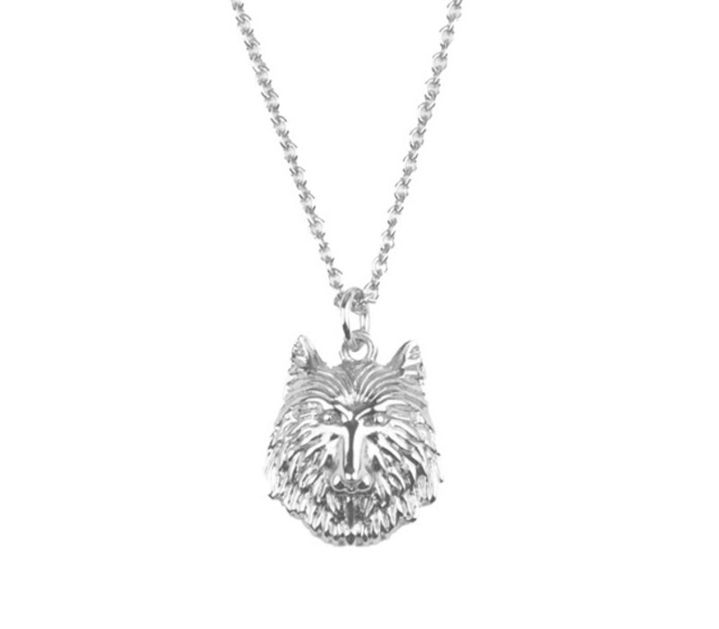 Souvenir Silverplated Necklace Wolf