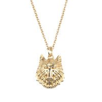 Souvenir Goldplated Necklace Wolf