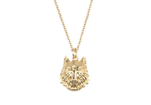 All the Luck in the World Necklace Wolf gold