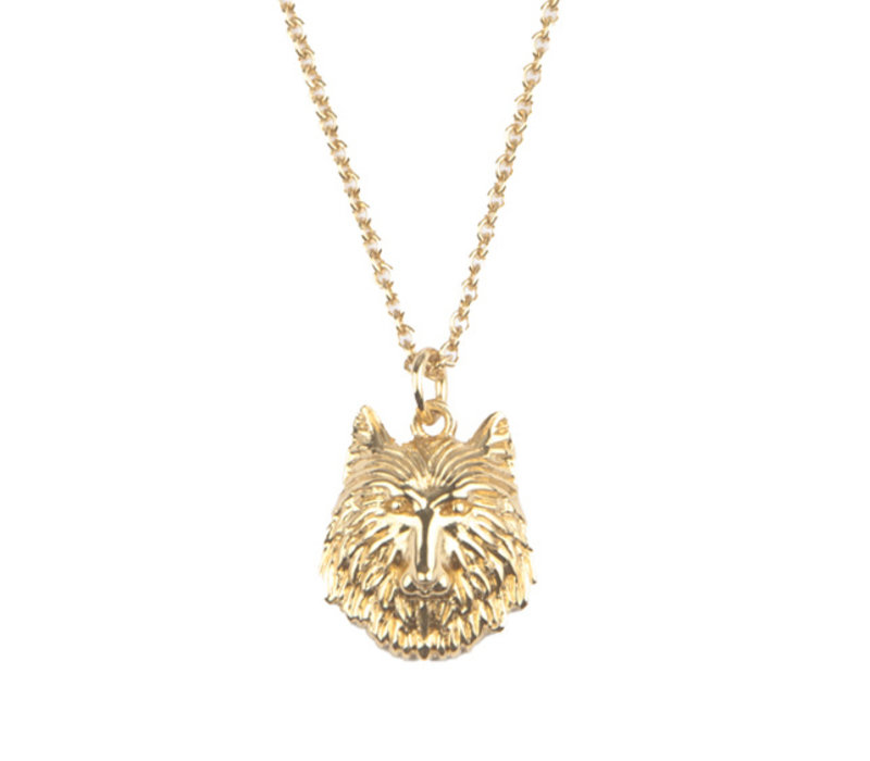 Necklace Wolf plated
