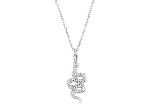 All the Luck in the World Souvenir Silverplated Necklace Snake