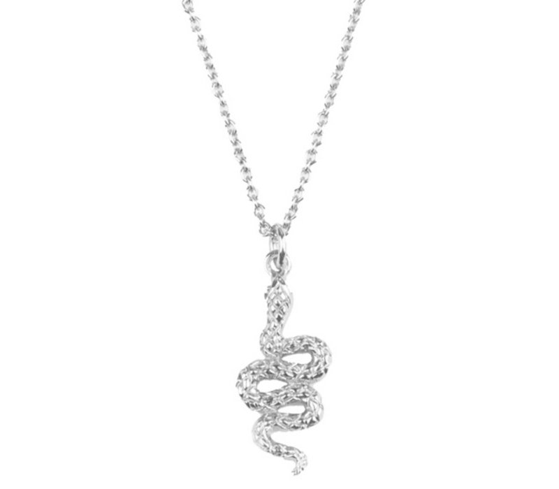 Souvenir Silverplated Necklace Snake